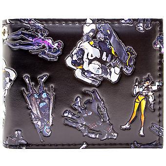 Overwatch geprägte Zeichen Tracer & Winston ID & Karte Bi-Fold Geldbörse