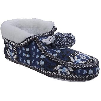 Divaz Womens/Ladies Lapland Full Shoe Knitted Casual Bootie Slippers