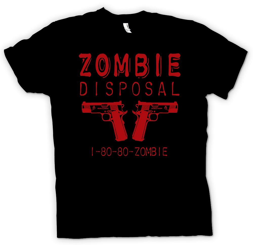 Mens T-shirt - Zombie Disposal Ad - Funny