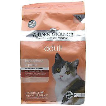 Arden Grange tørre katten mad voksne laks 2 Kg