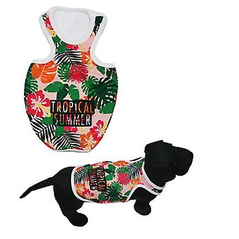 MI&DOG Camiseta Tirantes Tropical Summer T-50 (Dogs , Dog Clothes , T-Shirts)
