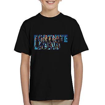 Fortnite Legend Text Montage Kid's T-Shirt