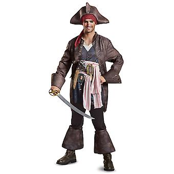 Potc5 Deluxe Captain Jack Sparrow Pirates of the Caribbean Mens Costume XL