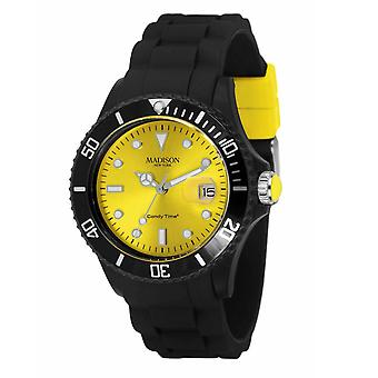 Candy time by Madison N.Y.. watch unisex U4486-02-1 yellow