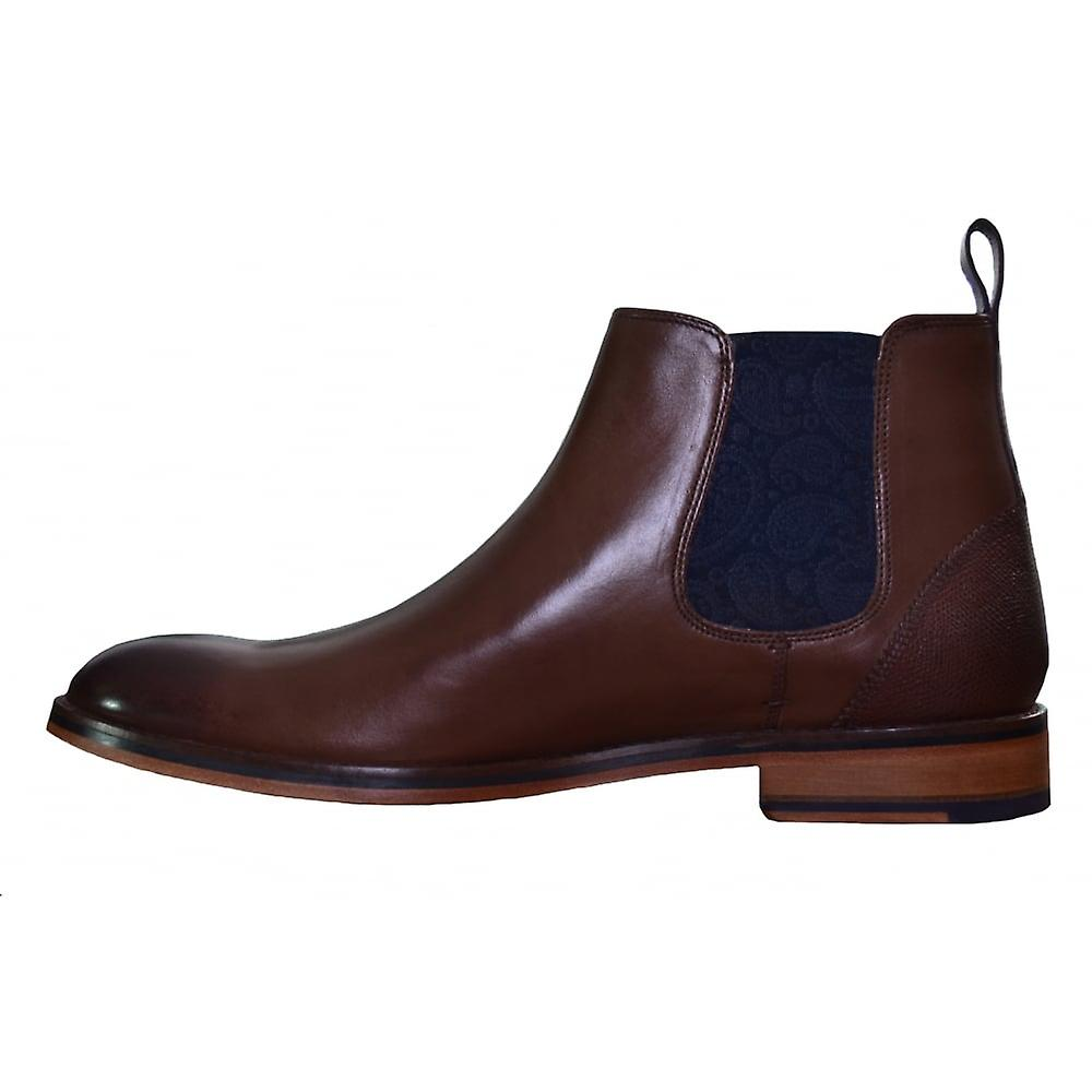 Mens Brown Camroon Leather Chelsea Boot