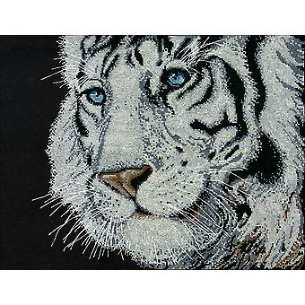 White Tiger Counted Cross Stitch Kit-12