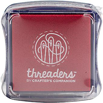 Crafter's Companion Threaders Fabric Ink Pads-Red
