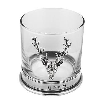 Stag Pewter Whisky Glas Single Tumbler