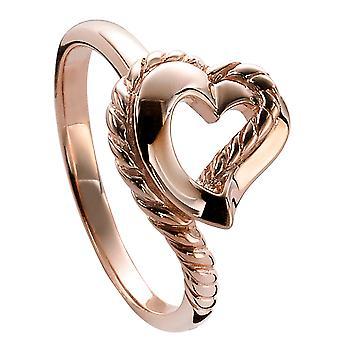 Orphelia sølv 925 Ring hjerte steg ZR-3933/1