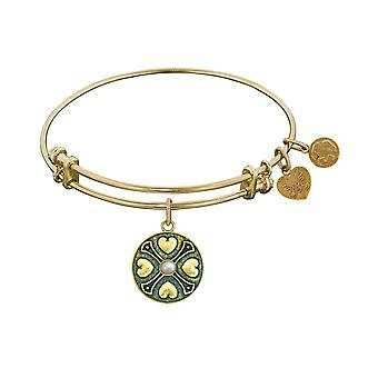 Finish Brass June Birthstone Angelica Bangle Bracelet, 7.25
