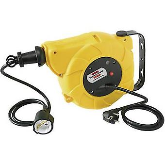 Wall-mounted cable reel 9 m Black PG plug Brennenstuhl