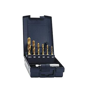 Exact 05930 Tapping combo head 7-piece metric M3, M4, M5, M6, M8, M10 Right hand cutting HSS 1 Set