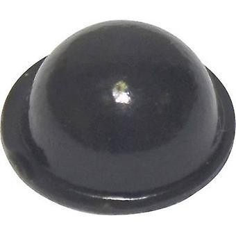 TOOLCRAFT PD2150SW Foot self-adhesive, circular Black (Ø x H) 15.9 mm x 6.35 mm 1 pc(s)