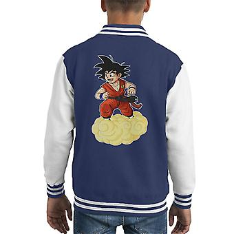 Dragon Ball Z Kid Goku op Cloud Kid's Varsity Jacket