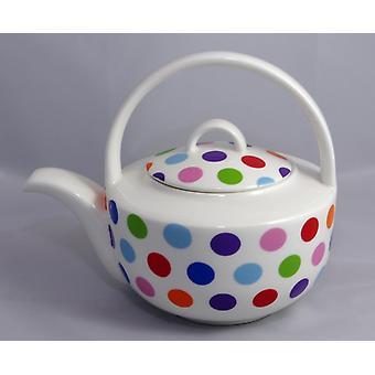 English Bone China Teapot Spots