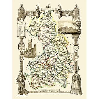 Map of Cambridgeshire 1836 by Thomas Moule 1000 Piece Jigsaw Puzzle (jg)