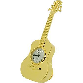 Cadeau producten klassieke gitaar miniatuur prikklok - goud
