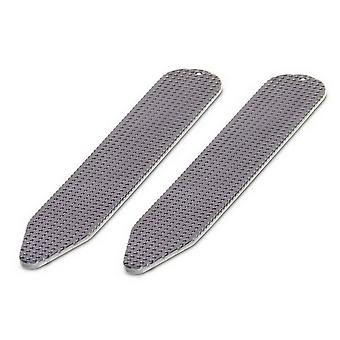 David Van Hagen Gunmetal Textured Collar Stiffeners - Grey