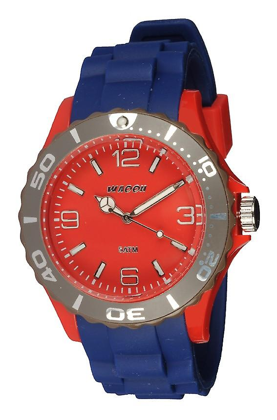 Waooh - Montre MC42 Tricolore rouge & taupe
