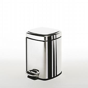 Gedy Square Pedal Bin 3L weiche enge poliert 220913