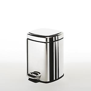 Gedy Square Pedal Bin 3L Soft Close Polished 220913