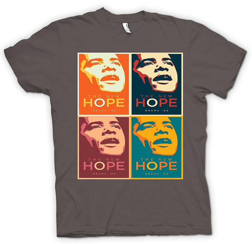 Herr T-shirt-Obama 08 New Hope - Warhol