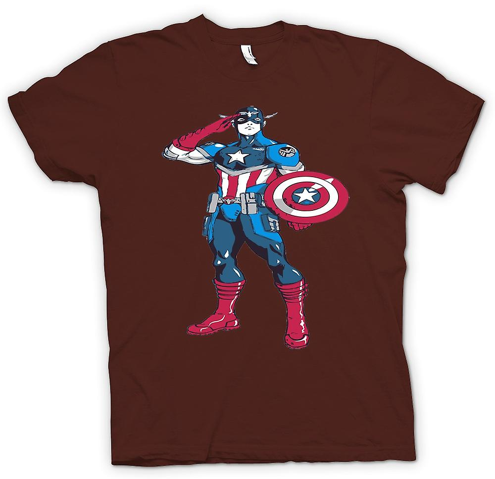 T-shirt des hommes - Captain America Superhero - Sketch