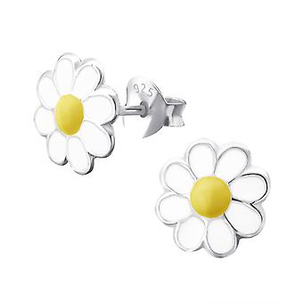 Camomile - 925 Sterling Silver Colourful Ear Studs - W9215X