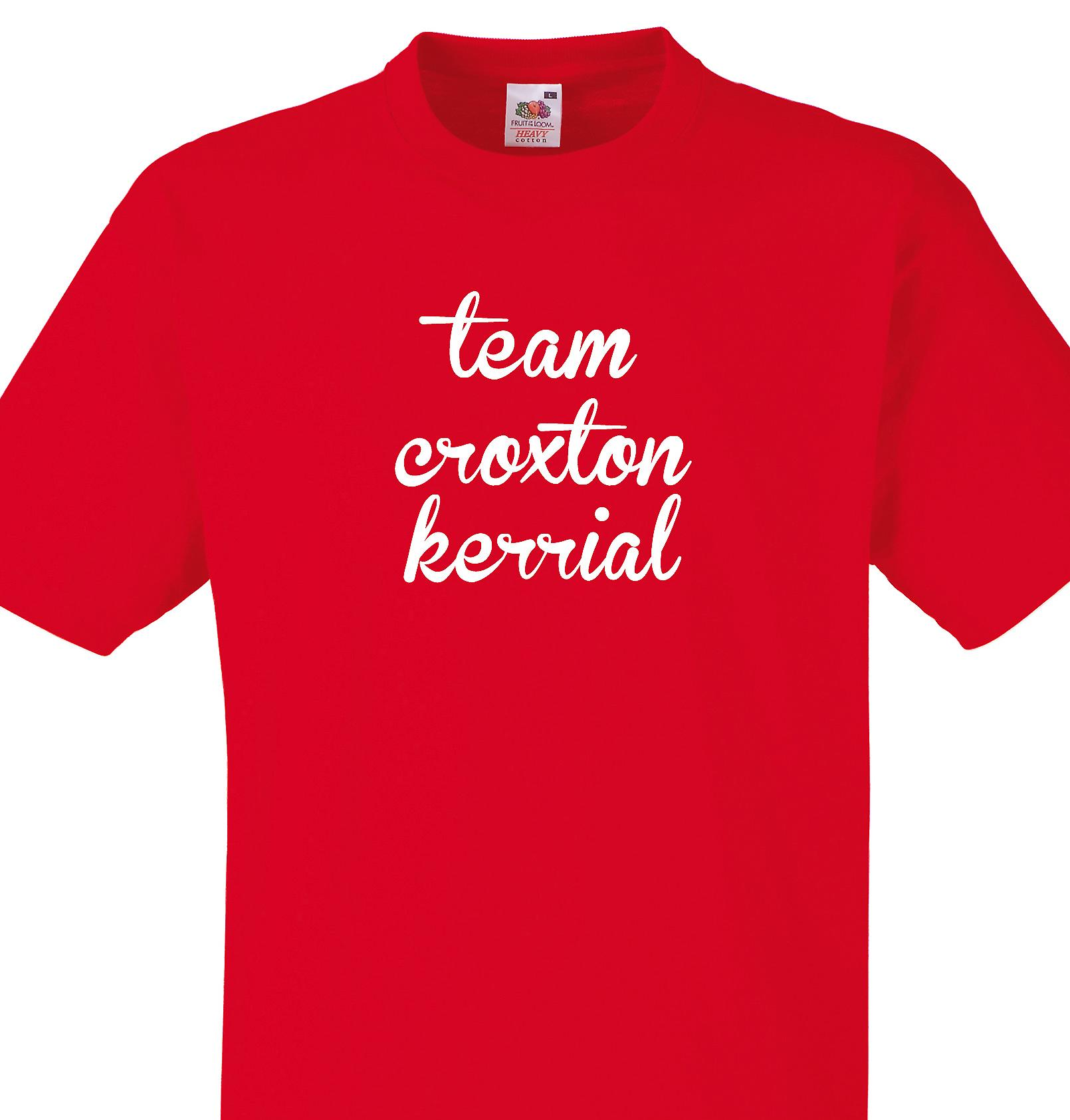 Team Croxton kerrial Red T shirt