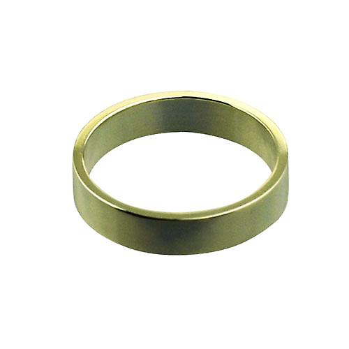 18ct Gold 4mm plain flat Wedding Ring Size O