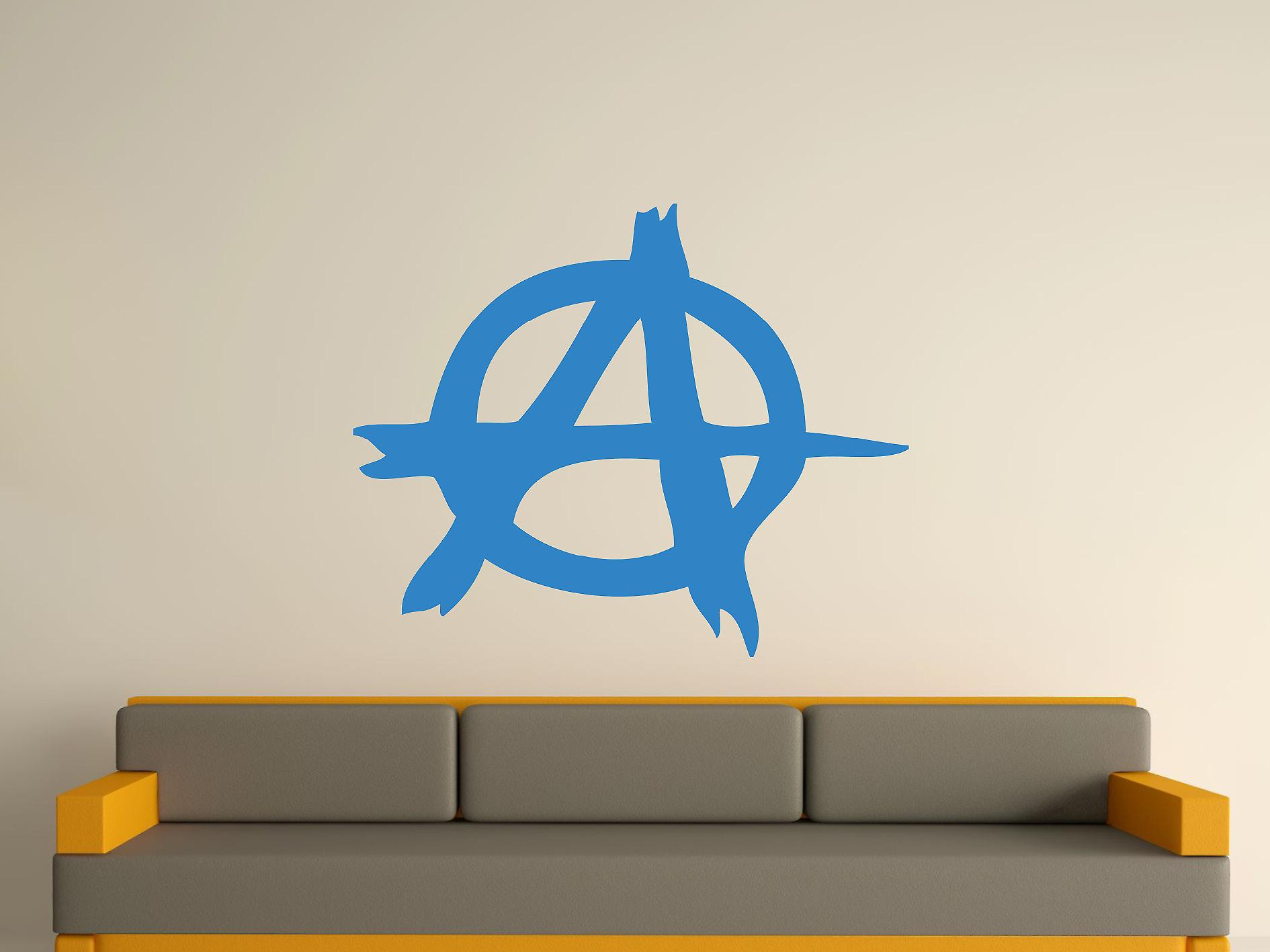 Anarchy Symbol Wall Art Sticker - Olympic Blue