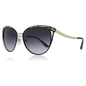 Bvlgari BV6083 ز 20188 أسود/الذهب BV6083 القطط عيون عدسة النظارات الشمسية الفئة 3 حجم 56 ملم