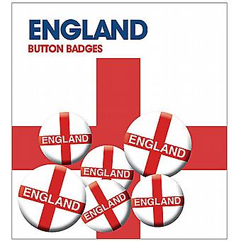 England  6 Pin Badges in Pack (ge)