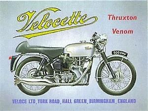 Velocette Venom metal sign (fd)