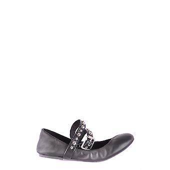 Steve Madden Black Leather Flats