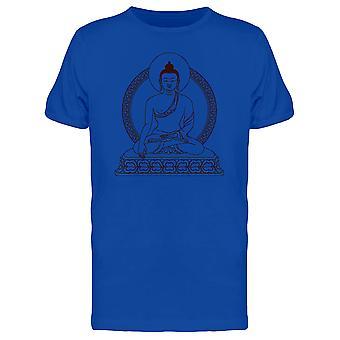 Meditere Buddha Tee menn-bilde av Shutterstock