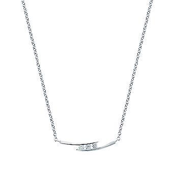 Ah! Bijoux en argent Sterling 3 pierre de cristaux de Swarovski collier clairs