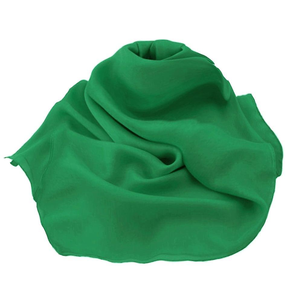 Éternelle Collection plaine émeraude vert Oblong Pure mousseline de soie foulard en soie