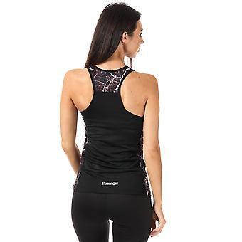 Womens Slazenger Zina Vest Top In Jet Black
