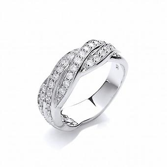 Cavendish French Silver and Cubic Zirconia Entwined Band Ring