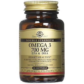Solgar Omega-3 Double Strength Softgels, 30