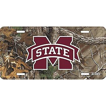 Mississippi State Bulldogs NCAA Camo License Plate