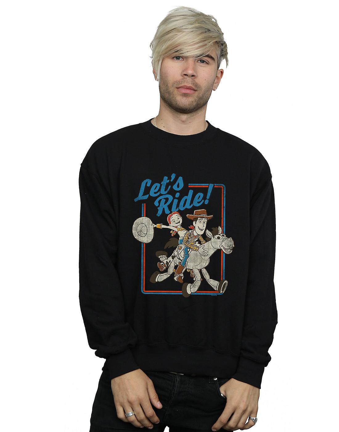 Disney Men&s Toy Story 4 Let&s Ride Sweatshirt