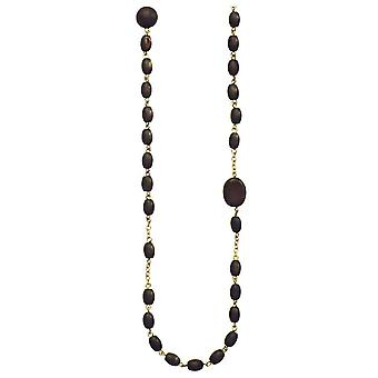 Pilgrim Ladies´ necklace :wooden beads black/frosted gold (387031)