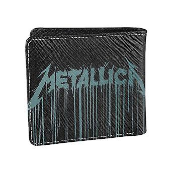 Metallica Wallet Drips Band Logo Hardwired new Official Black Bifold