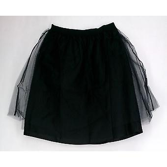 Issac Mizrahi Live! Skirt Double Layer Tulle Party Black A213379