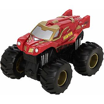 Hot Wheels Monster Jam Rev Tredz Iron Man friction toy car 12cm