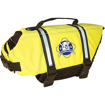 Paws Aboard Doggy Life Jacket Large-Safety Neon Yellow L1500-1500
