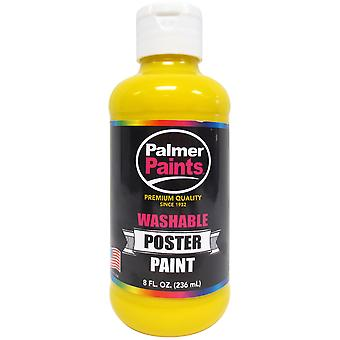 Washable Poster Paint 8oz-Yellow WP8OZ-656