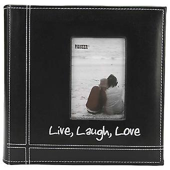 Embroidered Stitched Leatherette Photo Album 9
